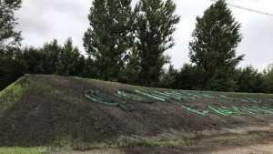 Фокинский район Брянска обозначили земляной инсталляцией