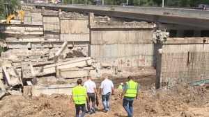 В Брянске из старых частей Первомайского моста сделают дорогу