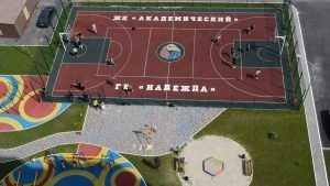 Возле ЖК «Академического» прошел турнир по стритболу