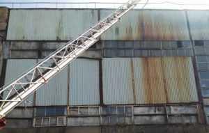 Появились фото с места крупного пожара в Брянской области