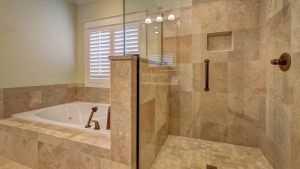 Керамогранит в интерьере ванной комнаты