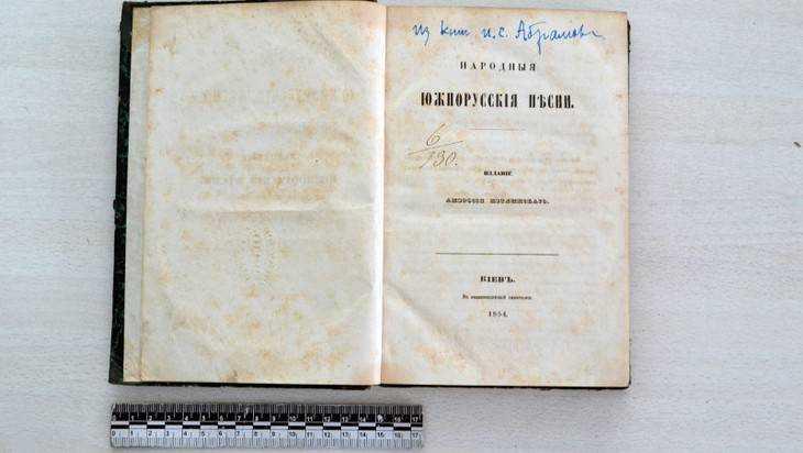 Брянские таможенники задержали пассажира со сборником древних песен