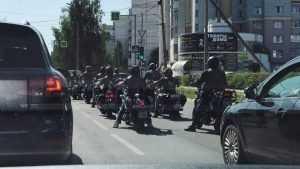В Брянске заметили группу грозных немцев на мотоциклах