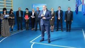 В Брянской области открыли восьмой обновленный школьный спортзал