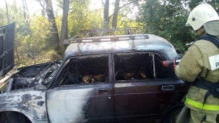 В Новозыбкове сгорел легковой автомобиль