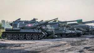 В соцсети показали фото военной техники, привезенной на парад в Брянск