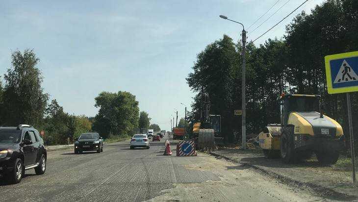 Под Брянском начали ремонт последнего участка дороги в сторону Орла