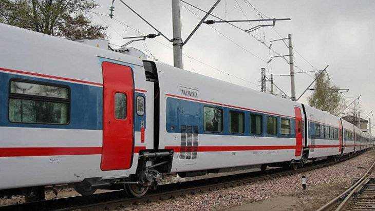 В Брянск заехал суперскоростной поезд «Стриж»