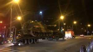 В Брянске сфотографировали доставленную на парад военную технику