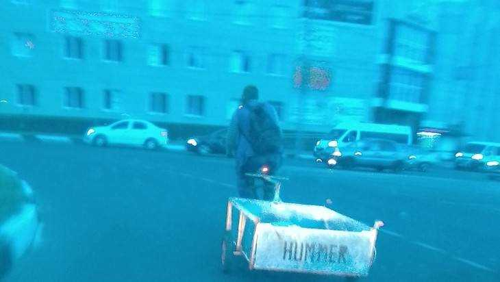 В Брянске сфотографировали Hummer с педалями