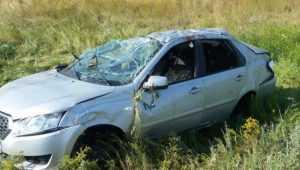 Под Дятьковом перевернулся Datsun – водитель повредил позвоночник
