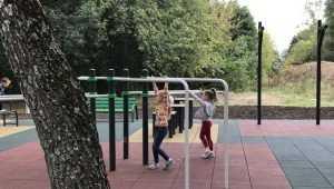 В брянском парке «Соловьи» соорудили великолепную спортплощадку