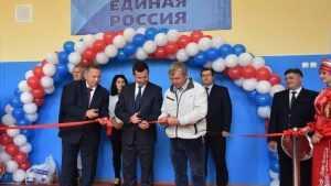 В почепской школе открыли спортзал, отремонтированный по партпроекту