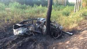 Под Клинцами в перевернувшемся автомобиле сгорели два человека