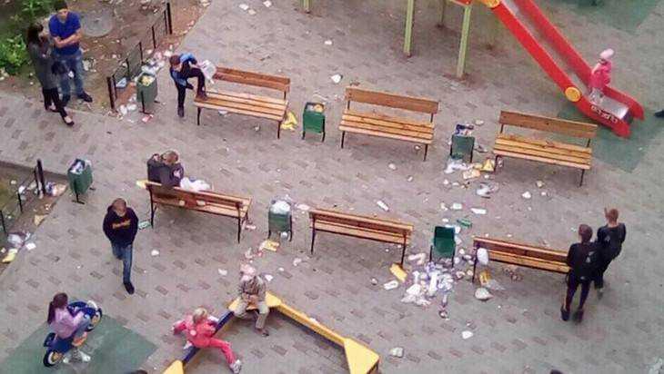 В Брянске «свиней» по-свински обвинили в загаженности детской площадки
