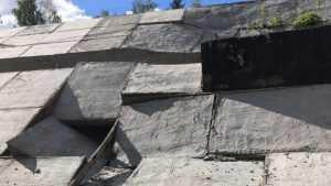В Брянске начали разрушаться откосы насыпи Первомайского моста