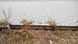 В Клинцах похитили тротуарный бордюр
