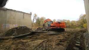 На Первомайском мосту в Брянске закончили забивку свай