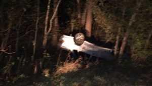 Под Навлей водитель перевернувшегося ВАЗ разбил голову