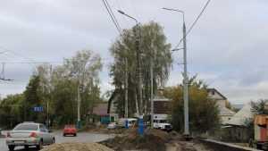 В Брянске с одной стороны осветили дорогу на Городищенской горке