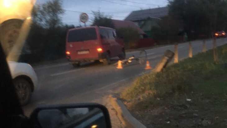 В Брянске на улице Красный Маяк вечером сбили велосипедиста