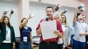 Брянский учитель Юрий Клюев получил малого «Хрустального пеликана»
