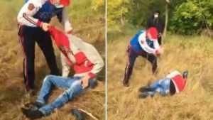 Появилось видео зверского избиения 25-летнего парня