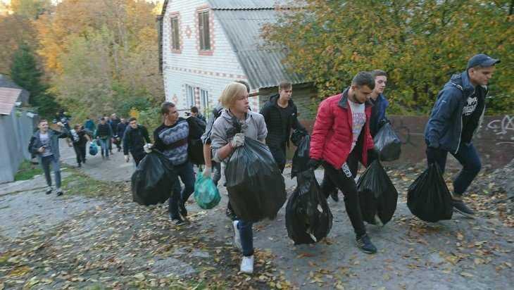Болельщики брянского «Динамо» очистили Нижний Судок от мусора