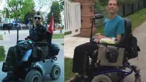 В Новозыбкове почти час колясочник прождал помощи посреди перекрестка