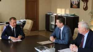 Мэр Брянска встретился с новым директором лицея №1 Юрием Клюевым