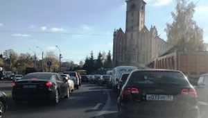 В Брянске сообщили об огромной пробке на Городищенской горке