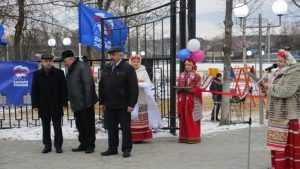 В Клетне при поддержке «Единой России» открыли сквер Победы