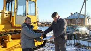 В Погарском районе за счет казны построили полигон и купили трактор