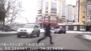 В Брянске сняли видео о шальном подростке на дороге
