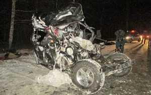 В жуткой аварии погиб криминальный авторитет с сыновьями