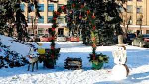 В центре Брянска появилась новогодняя арка желаний