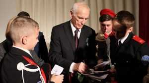 Актер Василий Лановой по приглашению губернатора посетил Стародуб