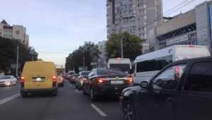 Советский район Брянска снова встал в огромной пробке