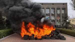 На Украине начали жечь шины из-за нехватки газа и дров