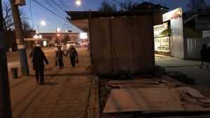 В Брянске около «Каравая» снесли киоски