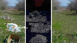 После критики чиновник «убрал» мусор с помощью фотографии