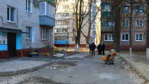 В Брянске подрядчика наказали за ремонт двора в переулке Гончарова