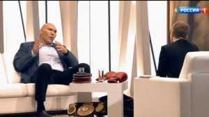 Брянский депутат Валуев преподал Борису Корчевникову урок бокса и доброты