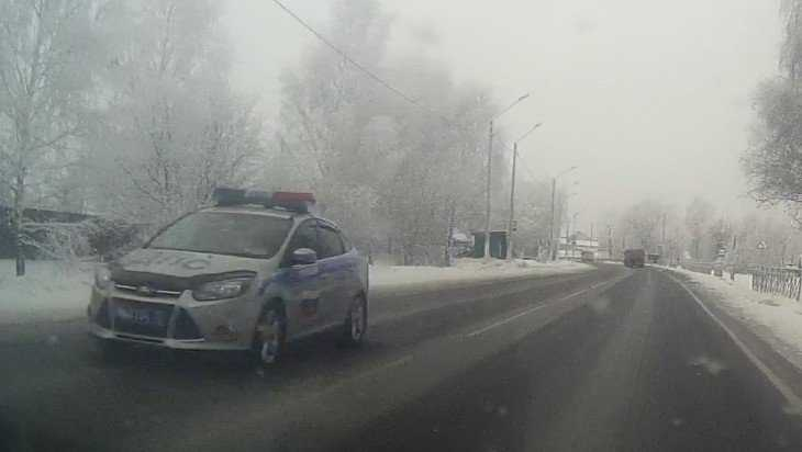 Жители Карачева обвинили сотрудников ДПС в нарушении правил