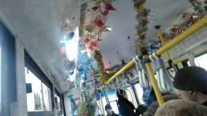 В Брянске сфотографировали новогодний троллейбус