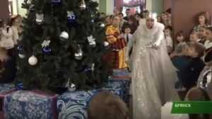 В Брянске фонд «Ванечка» подарил больным детям новогодний спектакль