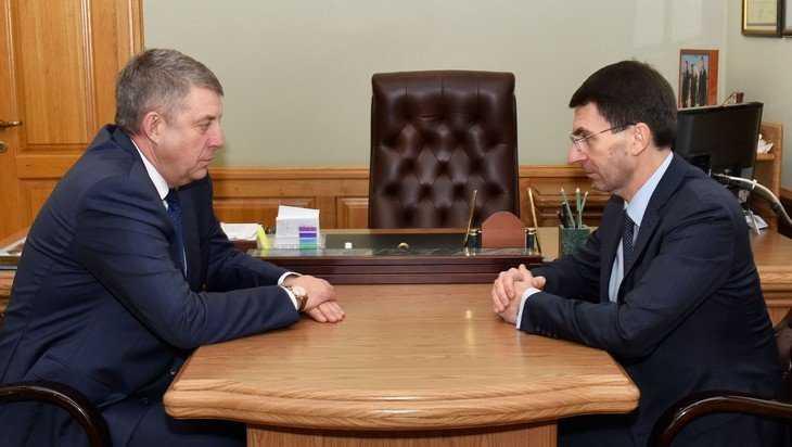 В Брянске полпред Президента Щёголев встретился с губернатором