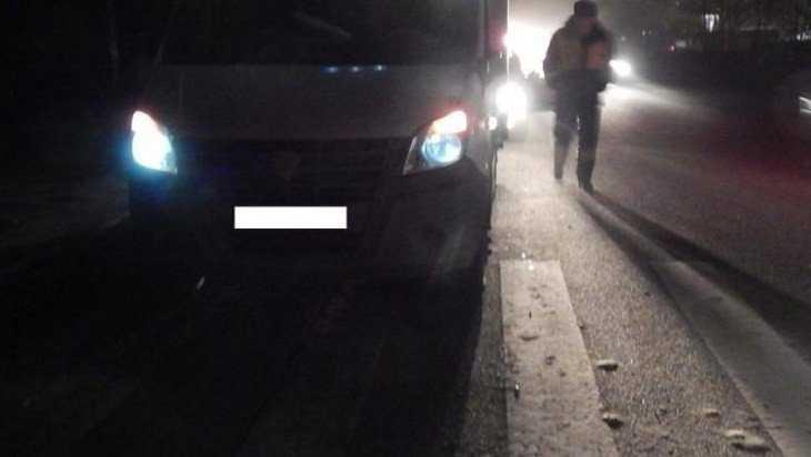 Маршрутка насмерть сбила пешехода у поворота на Партизанскую поляну