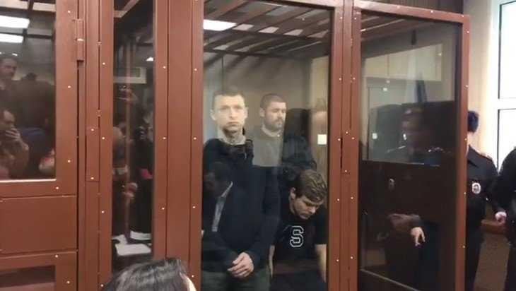 В сети появилось видео из суда с Мамаевым и Кокориным
