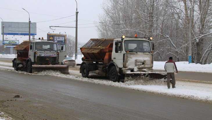 В Брянске на расчистку улиц от снега вышли больше 30 машин